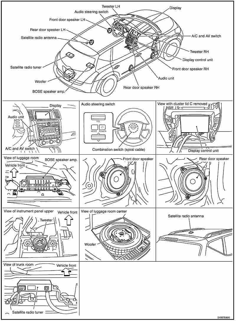2010 Nissan Murano Oem Satellite Radio Wiring Diagram Free Download Sentra Reverse Diagrams Sat Receiver Location Forum Ford F 150 At