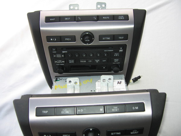 details of adding oem navigation color screen to my 2003 murano rh nissanmurano org nissan murano radio wiring nissan murano radio wiring