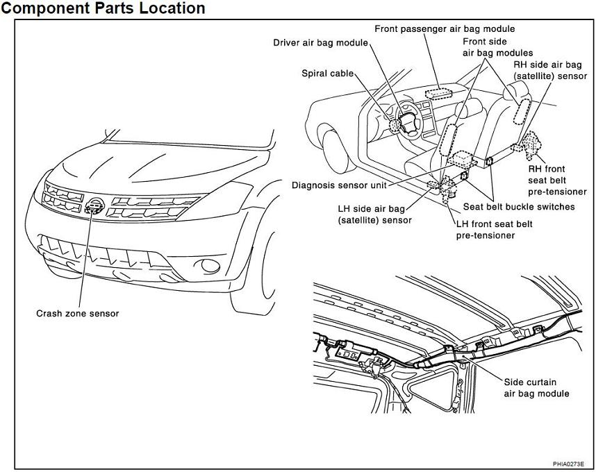 car air bag schematics nissan