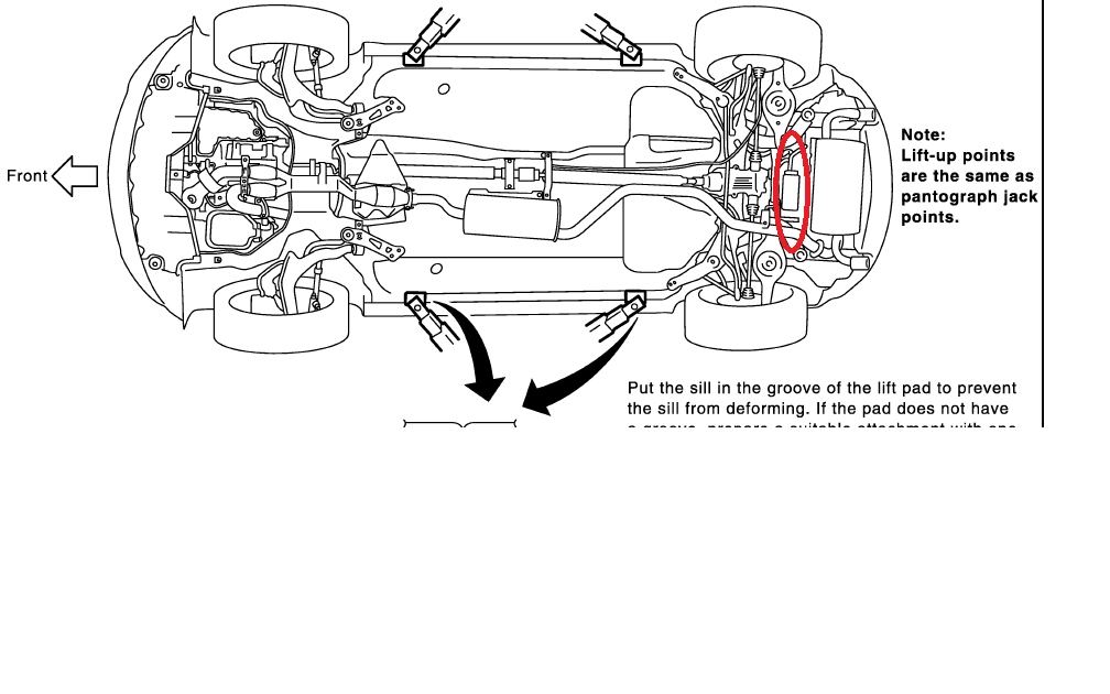 2007 nissan murano transfer case location