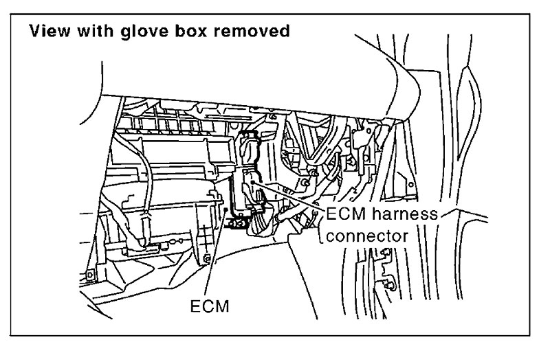 nissan murano ecm location 2009