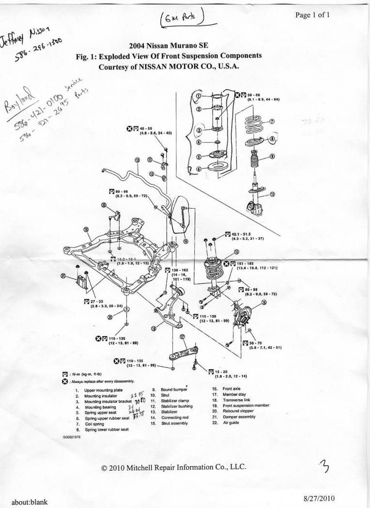 2004 Murano Engine Diagram Schematic Diagrams Of Nissan Strut Wiring Circuit U2022 Mpg