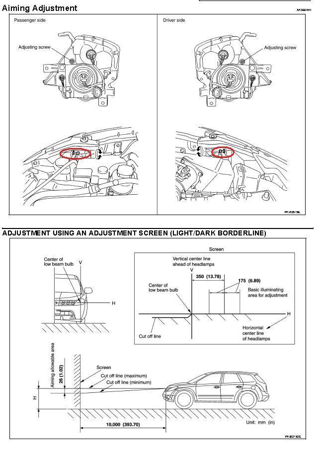 headlight adjustment halogen nissan murano forum rh nissanmurano org 2007 Nissan Murano Horn Fuse 2007 Nissan Murano Seat Parts Diagram