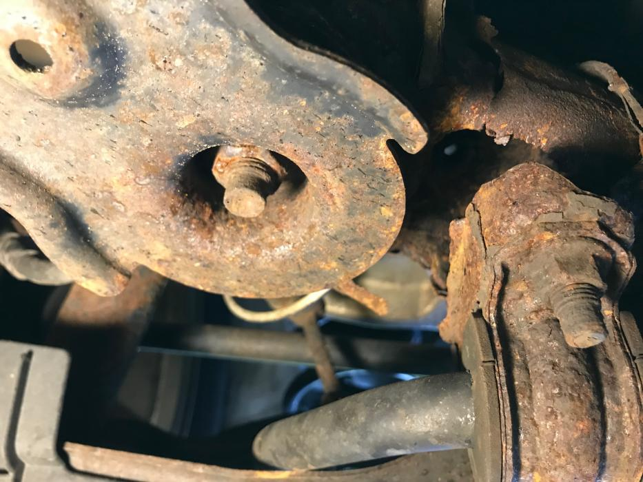 06 Sub Frame and frame rusted through and snapped - Nissan ...
