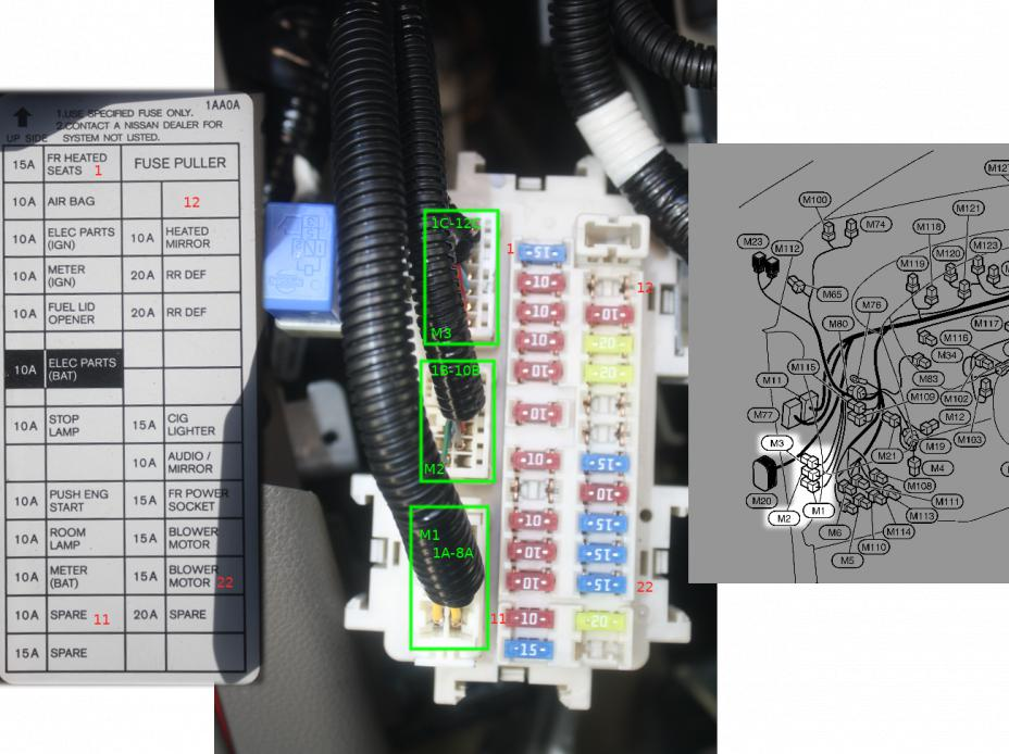 2009 nissan altima fuse box diagram nimo le 2009 relay location - nissan murano forum #14