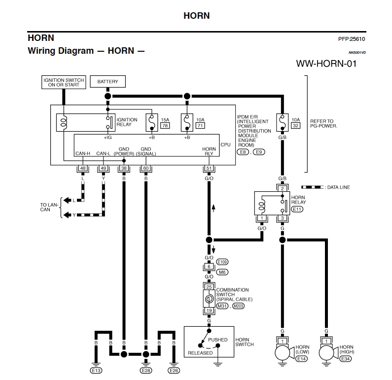 help! horn wiring schematics nissan murano forum voltmeter gauge wiring schematic click image for larger version name picture 3 png views 1260 size