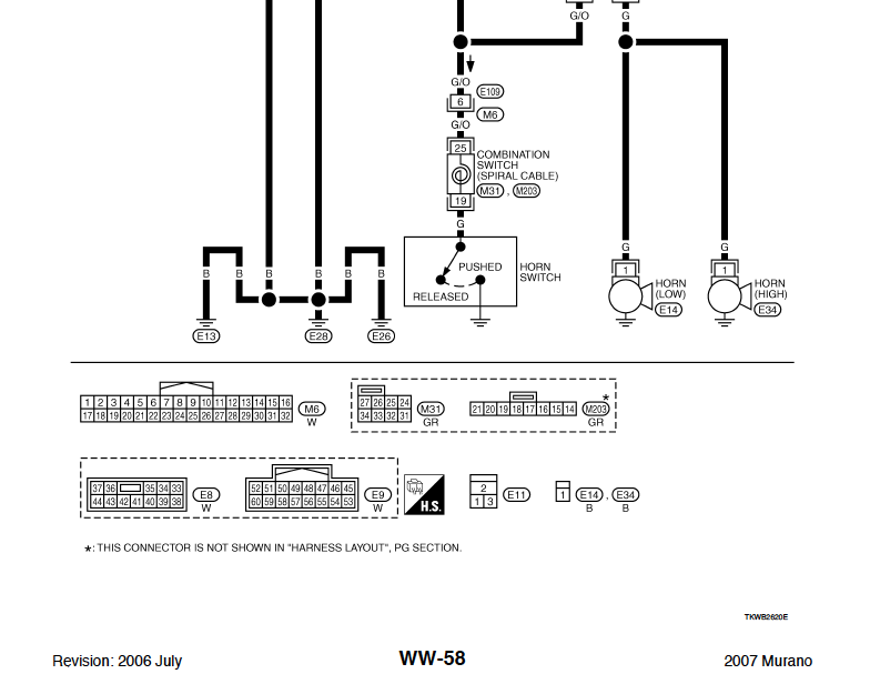 help horn wiring schematics nissan murano forum. Black Bedroom Furniture Sets. Home Design Ideas