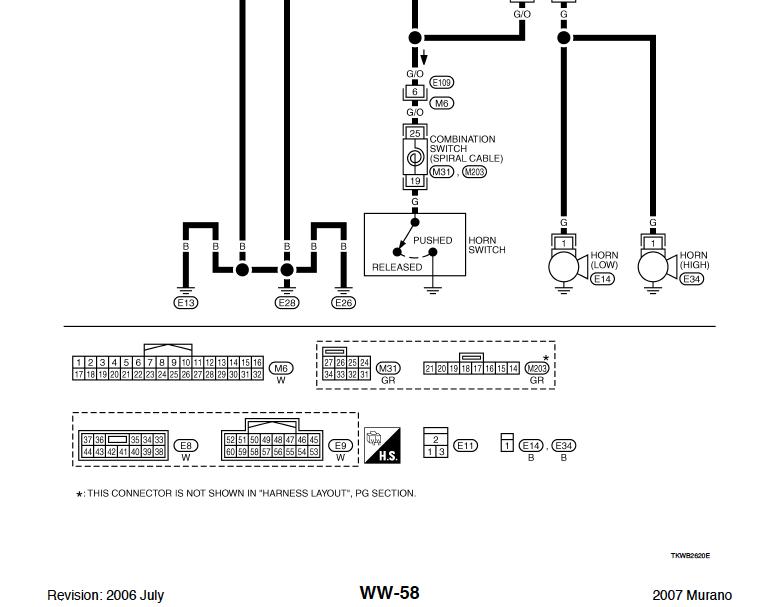 Help Horn Wiringschematics Nissan Murano Forum
