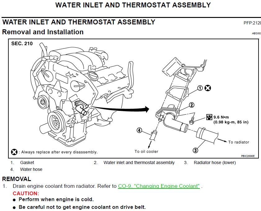 2005 Thermostat Replacement Diy Nissan Murano Forum