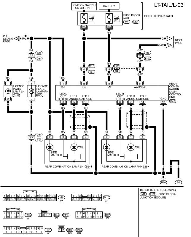 Circuit Electric For Guide  2007 Nissan Murano Wiring Diagram