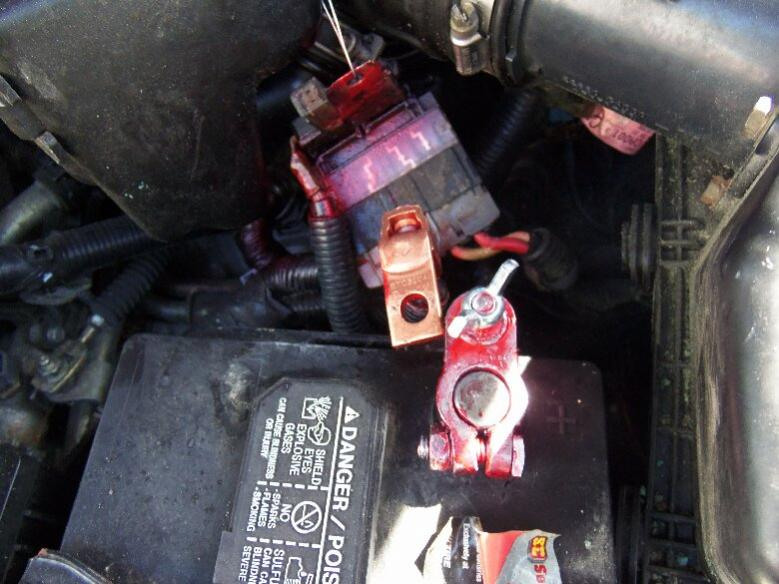 Positive Battery Power Connection To Starter Nissan