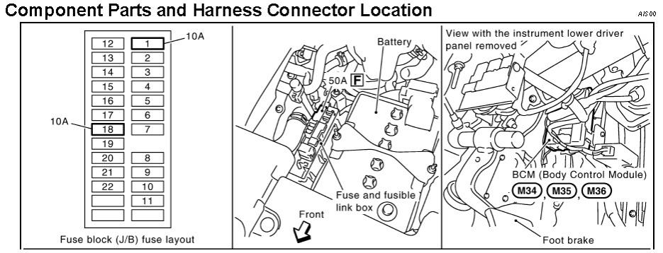 similiar 2005 nissan murano diagram keywords 2005 nissan quest fuse box diagram likewise 2009 nissan murano starter